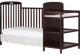 Cherry 4 in 1 Full Size Day Bed Changing table Silo