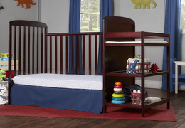 Cherry 4 in 1 Full Size Day Bed Changing table