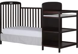 Espresso 4 in 1 Full Size Day Bed Changing table Silo