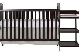 Espresso 4 in 1 Full Size Crib and Changing table Silo