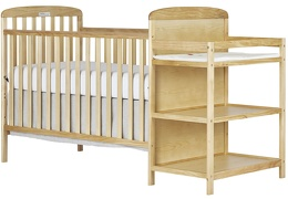 678-N Anna 4 in 1 Full Size Crib and Changing table Side Silo