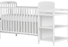 678-W Anna 4 in 1 Full Size Crib and Changing table Side Silo