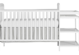 678-W Anna 4 in 1 Full Size Crib and Changing table Silo
