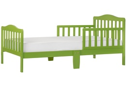 Light Green Classic Toddler Bed Silo