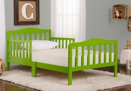 Light Green Classic Toddler Bed Roomshot