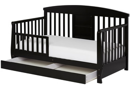 Black Deluxe Toddler Bed Silo