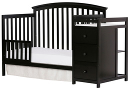 Black Niko Toddler Bed With Changer Silo