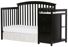 Black Niko Day Bed With Changer Silo