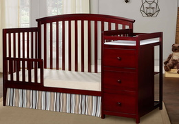 Cherry Niko Toddler Bed With Changer Roomshot