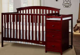 Cherry Niko 5 in 1 Convertible Crib With Changer Roomshot