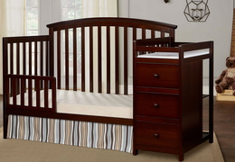Espresso Niko Toddler Bed With Changer Roomshot