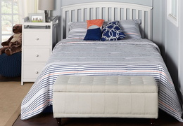 White Niko Full Bed With Changer Roomshot