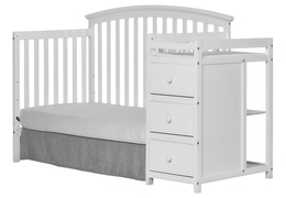 White Niko Day Bed With Changer Silo