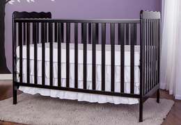 Black Classic 3 in 1 Convertible Crib RS