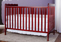 Cherry Classic 3 in 1 Convertible Crib RS