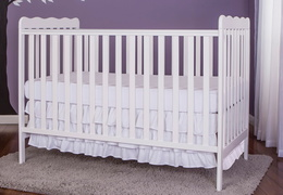 White Classic 3 in 1 Convertible Crib RS