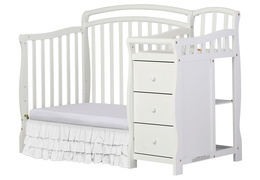 White Casco 3 in 1 Day Bed and Dressing Table Combo Silo Side