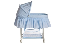 Sky Blue Willow Bassinet