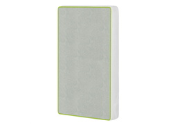 2-in-1 Breathable Two-Sided Portable Crib Foam Mattress, White/Green