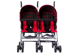 Dark Red Twin Stroller