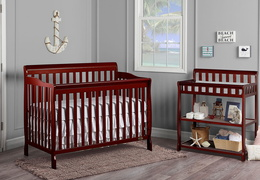 Cherry Ashton 5 in 1 Convertible Crib RS