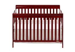 Cherry Ashton 5 in 1 Convertible Crib Silo Front