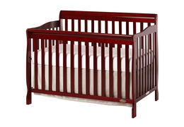 Cherry Ashton 5 in 1 Convertible Crib Silo Side