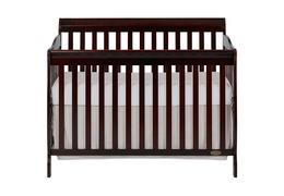 Espresso Ashton 5 in 1 Convertible Crib Silo Front