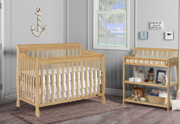 Natural Ashton 5 in 1 Convertible Crib RS