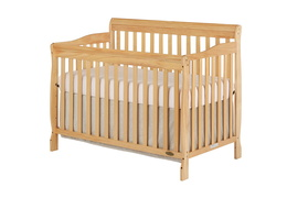 Natural Ashton 5 in 1 Convertible Crib Silo Side