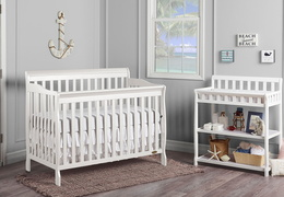 White Ashton 5 in 1 Convertible Crib RS