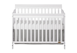 White Ashton 5 in 1 Convertible Crib Silo Front