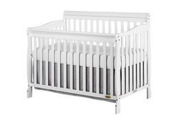 White Ashton 5 in 1 Convertible Crib Silo Side