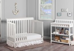 White Ashton Toddler Bed RS