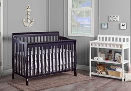 Navy Ashton 5 in 1 Convertible Crib RS