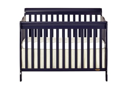 Navy Ashton 5 in 1 Convertible Crib Silo Front