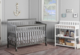 Storm Grey Ashton 5 in 1 Convertible Crib RS