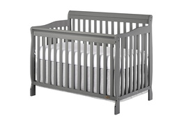Storm Grey Ashton 5 in 1 Convertible Crib Silo Side