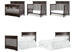 Dark Espresso Chesapeake 5 in 1 Convertible Crib Collage