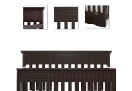 Dark Espresso Chesapeake 5 in 1 Convertible Crib Details