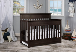 Dark Espresso Chesapeake 5 in 1 Convertible Crib RS