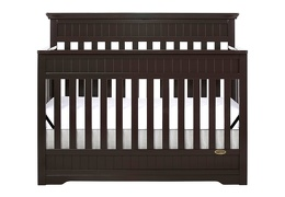 Dark Espresso Chesapeake 5 in 1 Convertible Crib Silo Front