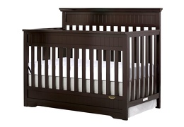 Dark Espresso Chesapeake 5 in 1 Convertible Crib Silo Side