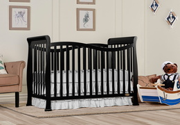 Black Violet 7 in 1 Convertible Crib RS
