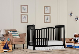 Black Violet 7 in 1 Toddler Bed RS