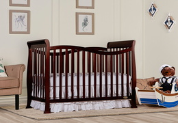 Espresso Violet 7 in 1 Convertible Crib RS