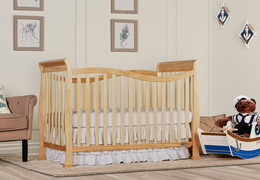 Natural Violet 7 in 1 Convertible Crib RS