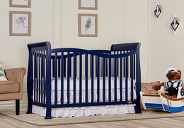 Royal Blue Violet 7 in 1 Convertible Crib RS