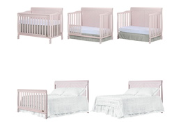 Blush Pink - Ashton Full Panel 5 in 1 Convertible Crib Collage