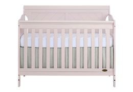 Blush Pink - Ashton Full Panel 5 in 1 Convertible Crib Front Silo